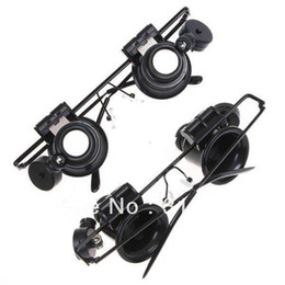 Wholesale 5pcs Glasses Type X Watch Repair Magnifier with LED Light