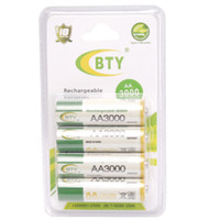aa battery brands - 8pcs BTY AA Battery Brand High Perfomance Promotion V mAh Rechargeable Batteries