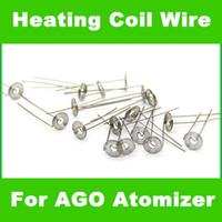 Wholesale 200 Heating Coil Wire for E Cigarette Atomizer DIY Ready For Ago G5 pen E Cigarette wax herbal vaporizer