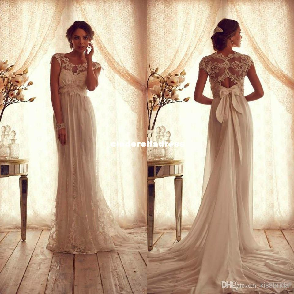2015 vintage sheer wedding dresses backless lace beach for Vintage backless wedding dresses