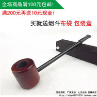 Cheap POPEYE smoking pipe personalized mahogany mini long rod round toe sculpture small smoking pipe briar