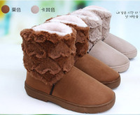lady boot for winter - 2014 HOT Fashion Lovely Lady Winter boot for Women snow boot brown beige