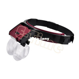 Wholesale 4 Lens LED Head magnifier Lights Headlamp Magnifying Glass Function Loupe X