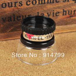 Wholesale 15X mm hand jewelry cylider Magnifier Identifying Loupe for repairing watch MG13097