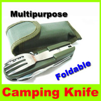 Wholesale 2014 new Camping knife for spoon bottle opener cutting in one camping portable outdoor gear picnic camping utility travel hiking hot sell