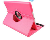 Wholesale stickup fabric degree Rotary Leather case Cover stand for New iPad Smart Cover for Ipad2