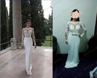 Trumpet/Mermaid Reference Images Jewel Berta Illusion Long Sleeves Round Backless Wedding Dresses White Jewel Neckline Mermaid Gold Bow Court Train Elastic Satin Winter 2014