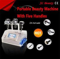 5 pieces aesthetic machines - 2014 big promotion aesthetic ultrasound cavitation machine vacuum cavitation fat cavitation slimming equipment