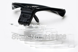 Wholesale NO B glasses Magnifier with LED Lights Multiple lens Bracket and the headband can be interchangeable hot money in china