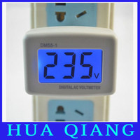 Wholesale 7920 Plug type LCD digital ac digital voltmeter Plug and play type v voltage meter with a backlight