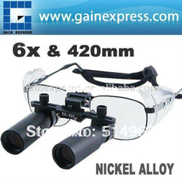 Wholesale New x x Magnifications Binocular Dental Loupes Surgical Medical Dentistry Nickel Alloy Frame mm Keplerian Style