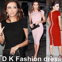 Wholesale Sexy Red Pink Black Bodycon Dress Cocktail Celebrity Kim Kardashian Style Women s Fashion New Pencil Formal Work Casual dresses DK4006SY