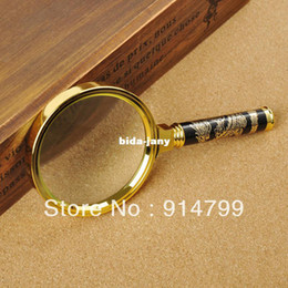 Wholesale 8X mm High quality elegant packaging Hand Magnifier Metal shank dragon design Jewellery Loupe PGY003 SINGLE