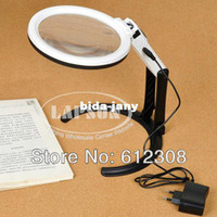 MG3B-1B big reviews - Big Size Portable Foldering Dual Illuminated LED Light Magnifier Magnifying Table Desk Lamp For review PCB Stamp Coin MG3B B