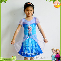 TuTu Summer A-Line 2014 New Girl Dress Fashion Summer Clothing for Children Kids Clothes Girl Clothing Frozen Elsa Princess Girl Party Dress 4-10 Years Girl