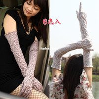 Wholesale Summer sun gloves driving gloves summer long section of the UV light days plus female arm sleeve cyclingH14