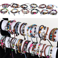 Fashion 24X Leather Bracelet Braided Hemp Surfer Belt Bracel...