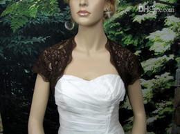 Wholesale Shawl For Lace Black Dress - 2015 bridal jacket In Stock Short Sleeve Bolero Black Lace Cheap Bridal Wraps Jackets Shawl for Cathedral Church Wedding Dresses