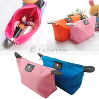 Wholesale Multicolour Waterproof Nylon Candy Color Cute Portable Cosmetic Bag Makeup Storage Bag Pencil Case Pouch Toiletries