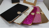 ipads - ipad air cases glitter bling bling case ipads tablet cases leather wallet case hard case diamond for ipad dhl free new arrival