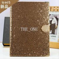 Wholesale Best price for ipad luxury diamond bling bling leather case Wallet pouch stand covers for ipads apple ipad air hot new