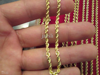 Wholesale Men s Women s k Gold mm hollow Rope Chain inch g AAA
