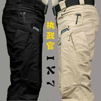 Wholesale Tactical cargo pants SWAT Ix7 tactical trousers slim combat multi pockets pants training overalls men s cotton pants S XXL