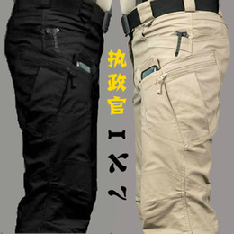 Wholesale Tactical cargo pants SWAT Ix7 tactical trousers slim combat multi pockets pants training overalls men s cotton pants S XXL