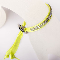 Wholesale Western Style Two Rows Rhinestone Inlaid Adjustable Ribbon Bracelet with Clasp LW3121423
