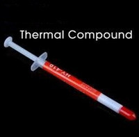 Wholesale 100PCS g CPU Thermal Paste Heatsink Compound Silver Grey Grease Tube