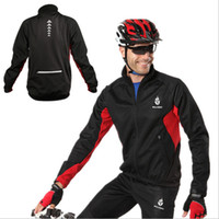 Wholesale 1 WOLFBIKE Windproof Fleece Thermal Winter Wind Cycling Long Sleeve Jersey Jacket Bike Bicycle Coat Clothes Sports Cycle Wear retail
