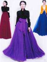 Chiffon Long  2014 Summer New Fashion Long Chiffon Skirt tall waist grenadine skirt Elegant Ladies Bowknot Full Ball Gown Party Skirt ND086