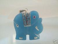 Pendant Necklaces Women's Pendants wholesale -------- 925 Sterling Silver Blue Jade Elephant Necklace Pendant