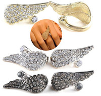 Vintage Retro Flying Angle Wing Full Clear Crystal Rhineston...