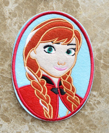 Wholesale 6 inch HOT SALL Frozen Snow Queen Anna Iron On Patches sew on patch Appliques Made of Cloth Guaranteed Quality