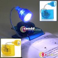 Nuevo Diseño Especial Precio Increíble Mini Portátil Plegable Luz de Lectura Libro Clip de la Lámpara de la Linterna de LED Campamento Panel de Luz #3641