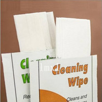 Wholesale Environment friend Lens Wet Dry Cleaning Wipes Papers Set for DSLR Camera Lens LCD Screens pieces pairs