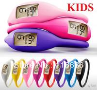KIDS 10pcs Ion Montres enfants montre de silicone de couleurs Silicon Jelly caoutchouc Jeune Mince Mode Femmes en vrac filles de Lot de gros