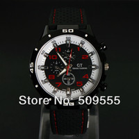 Sport Men's Round Men Racing F1 Wrist Watch Silicone Sports Cool Watch GT Grand Touring Quality Watch Japan Movement Free Shipping