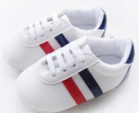 Wholesale European Children Fashion Classical Style Baseball Shoes Baby Girls Boys White Casual Antiskid Shoes Toddler Kids First Walker Shoes B3235