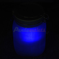 Wholesale Sun Jar Solar Powered Rechargeable Automatic LED Night Light Blue Orange Light