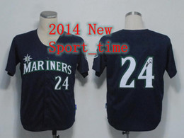 Wholesale Ken Griffey signed jerseys Mariners black embroidered cool baseball jerseys authentic baseball jersey cheap sports shirts drop shipping