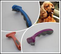Wholesale 60Pcs Purple pink Blue Pet Grooming Fasaiton DeShedding Tool for Dogs quot Pet dog brush F301