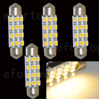 LED Bulb Dome Light warm/pure white 50pcs 39mm 12 3528 SMD LED Car Interior Dome Light Lamp Festoon LED Light Bulbs Warm  Pure White Light Car Light Reading Light Bulb Freeship