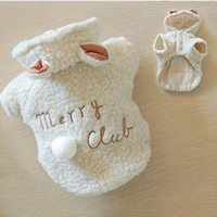 Wholesale Details about Hot Pet Puppy Dog Clothes Cute White Sheep Warm Hoodie Coat Apparel