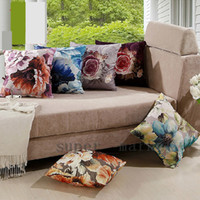 Wholesale European Painting Creative Cushion Fabric Office Pillow covers Sofa Cushion covers4pcs