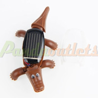 Wholesale Crawling Mini Crocodile Educational Solar Powered Toy Kit Christmas Gift Brown