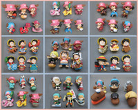 Roles anime toys - Japan Anime ONE PIECE pvc action figures toy doll capsule toys set