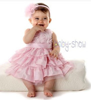 TuTu gymboree - Exquisite Pink Rose Frill Cake Baby Girls Dress Children Kids Jumper Party Dresses Fabulous Florals Gymboree Toddler Dress B3240