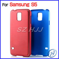 Brushed Aluminum Case for Samsung S5 Plastic Chrome Hard Cas...